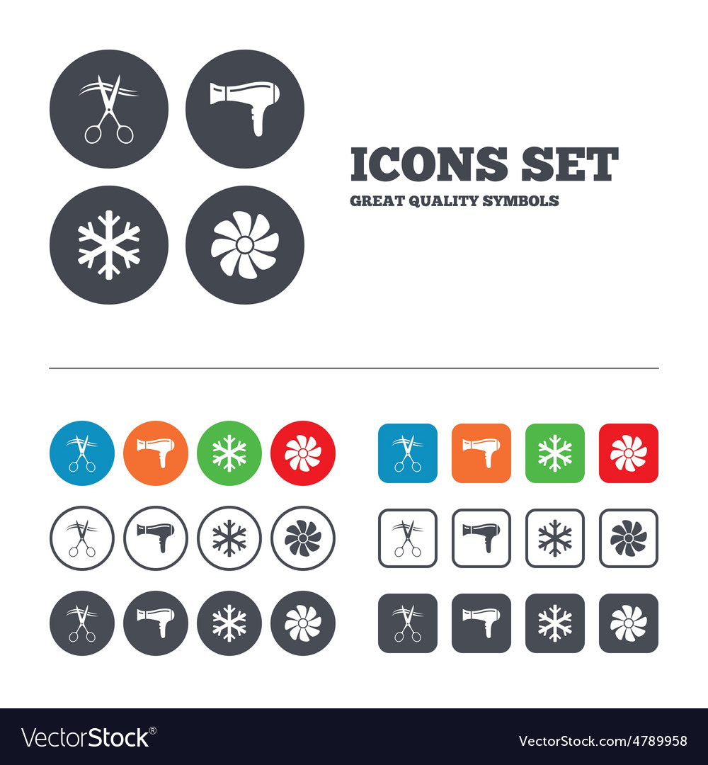 air conditioning services icon. hotel services icon air conditioning hairdryer vector image