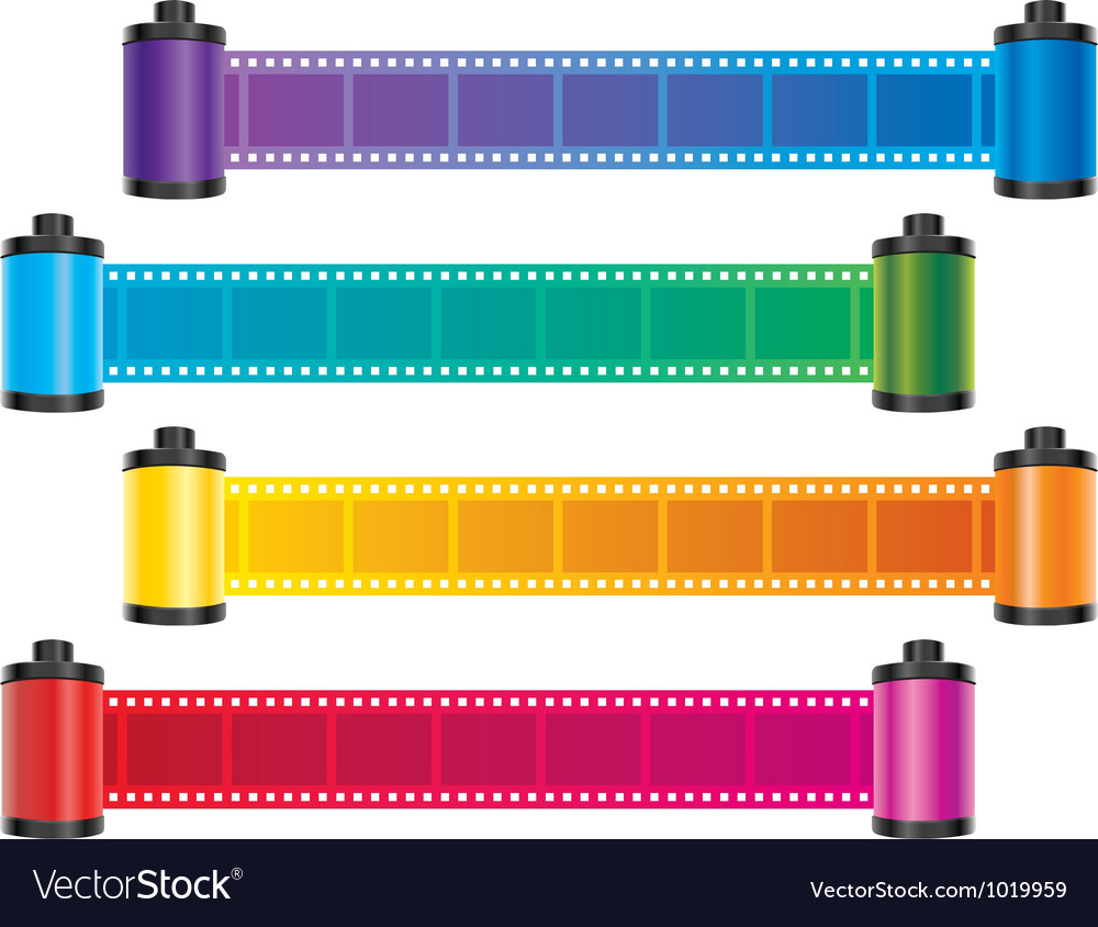 Film strip color vector image