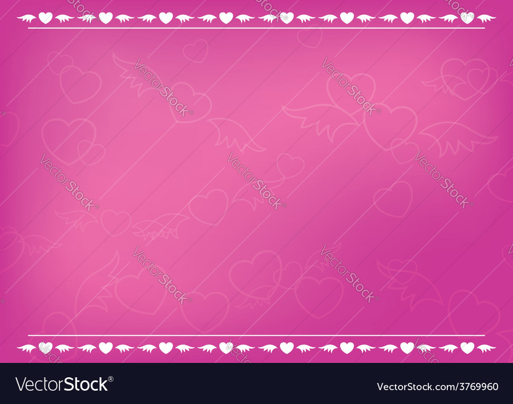 Pink romantic card with hearts vector image