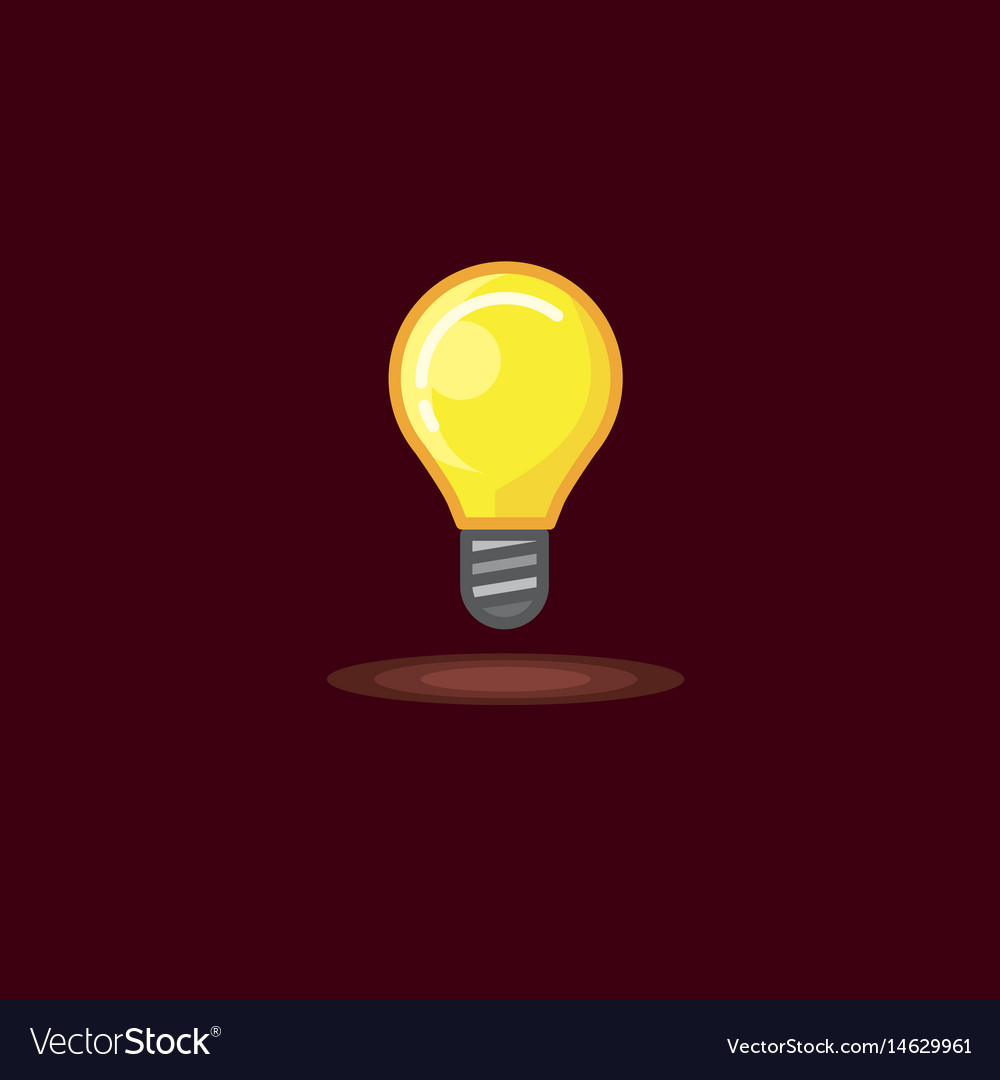 A glowing incandescent lamp vector image