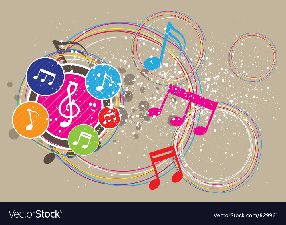 Music festival background vector image