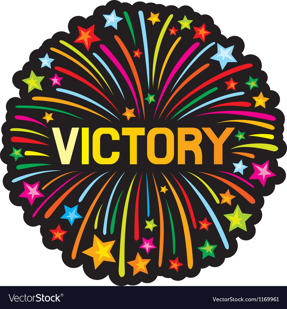 Victory firework vector image