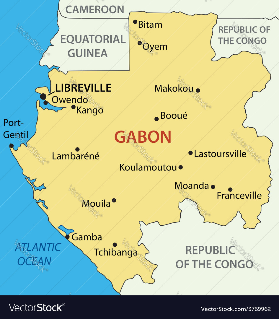 Gabon gabonese republic map royalty free vector image gabon gabonese republic map vector image sciox Gallery