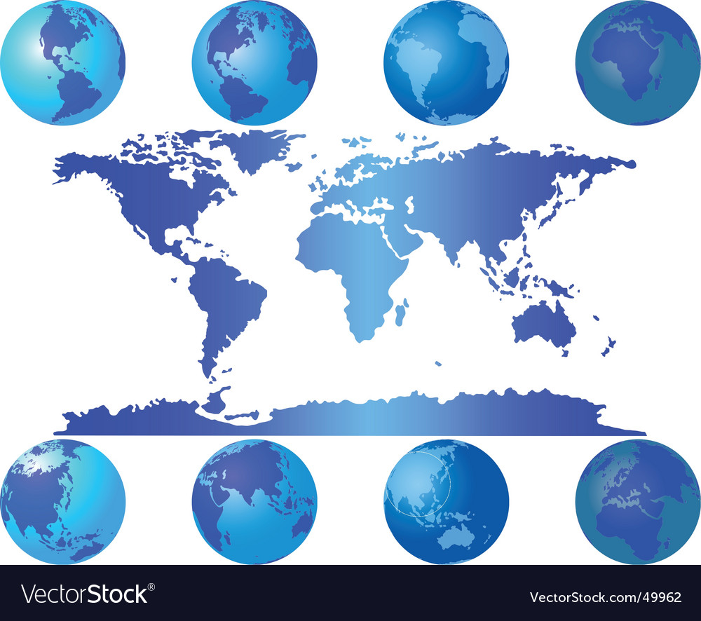 Global maps vector image