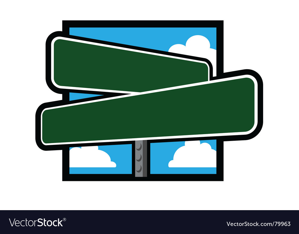 Street Sign Royalty Free Vector Image