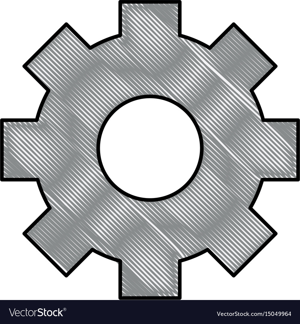 Gear object machine vector image