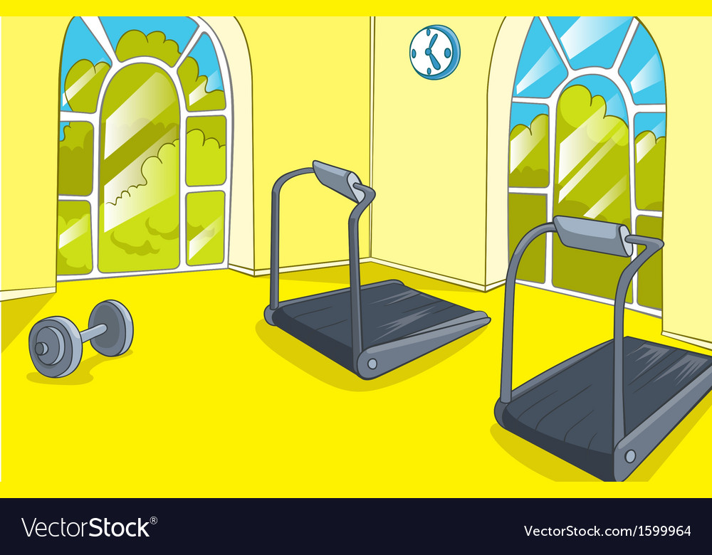 Gym room royalty free vector image vectorstock