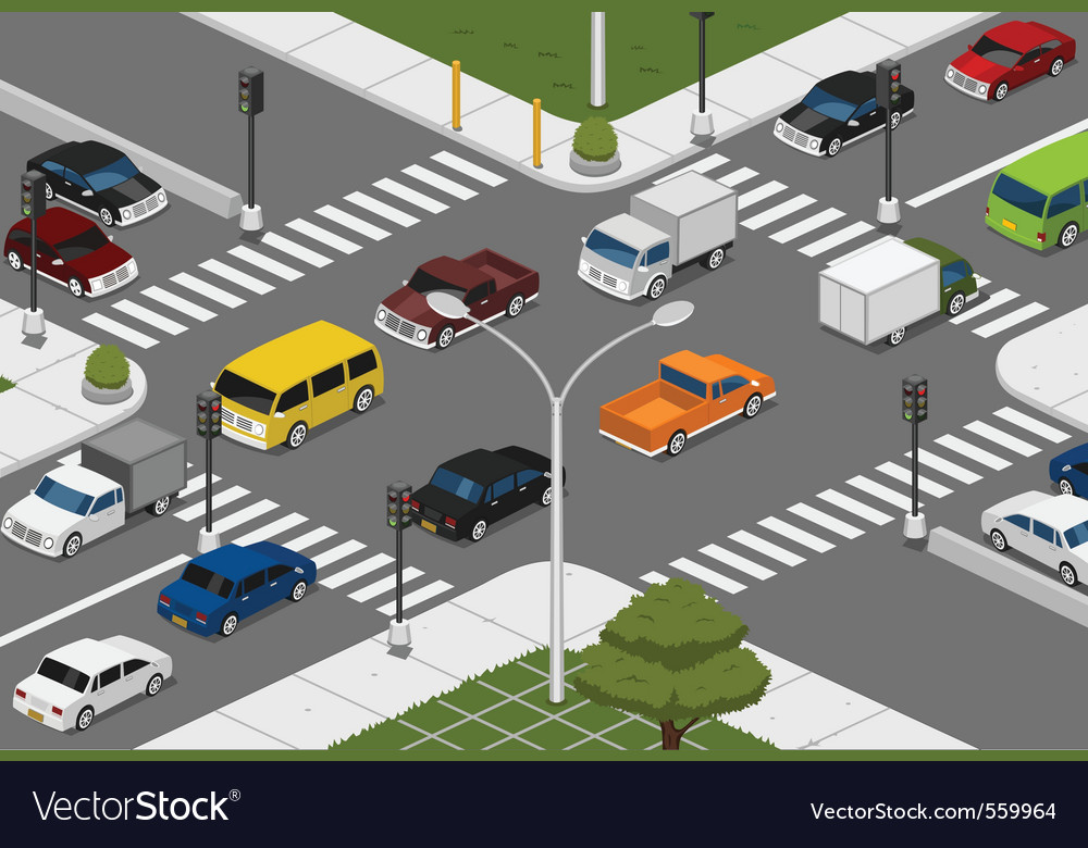 Intersection royalty free vector image vectorstock for Ad agency traffic manager