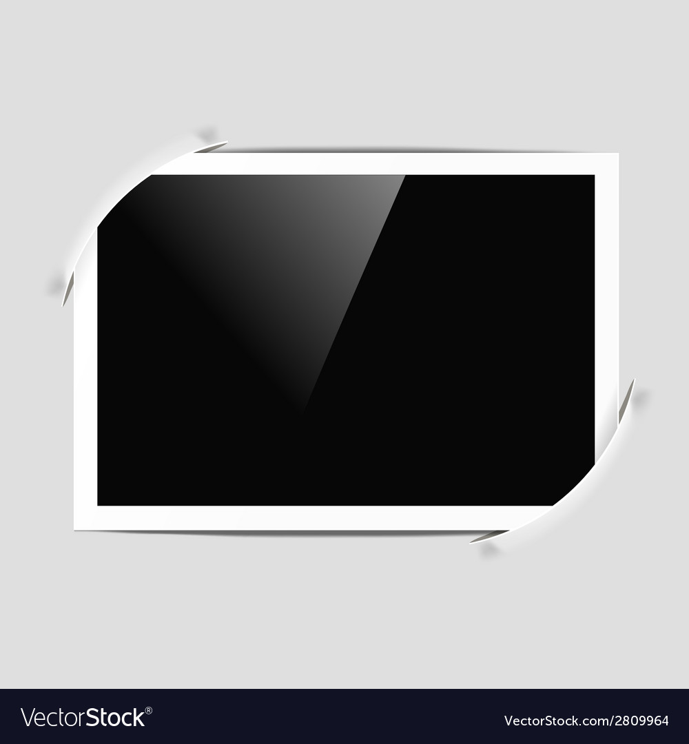 Photo frame in album vector image
