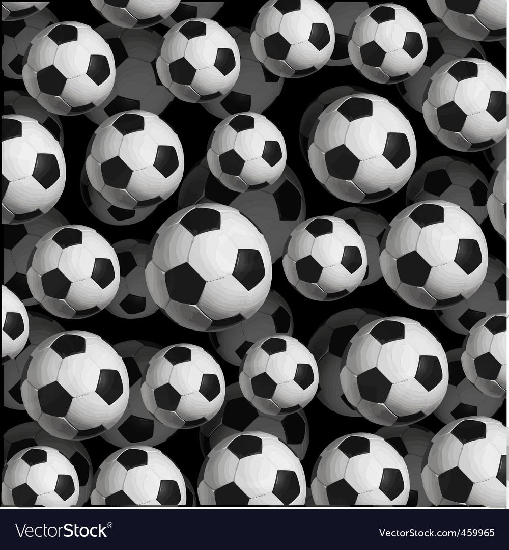 Soccer ball pattern Royalty Free Vector Image - VectorStock