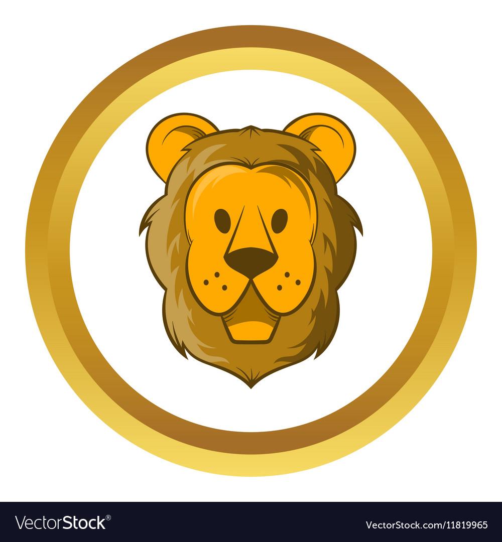 Head of lion icon cartoon style vector image