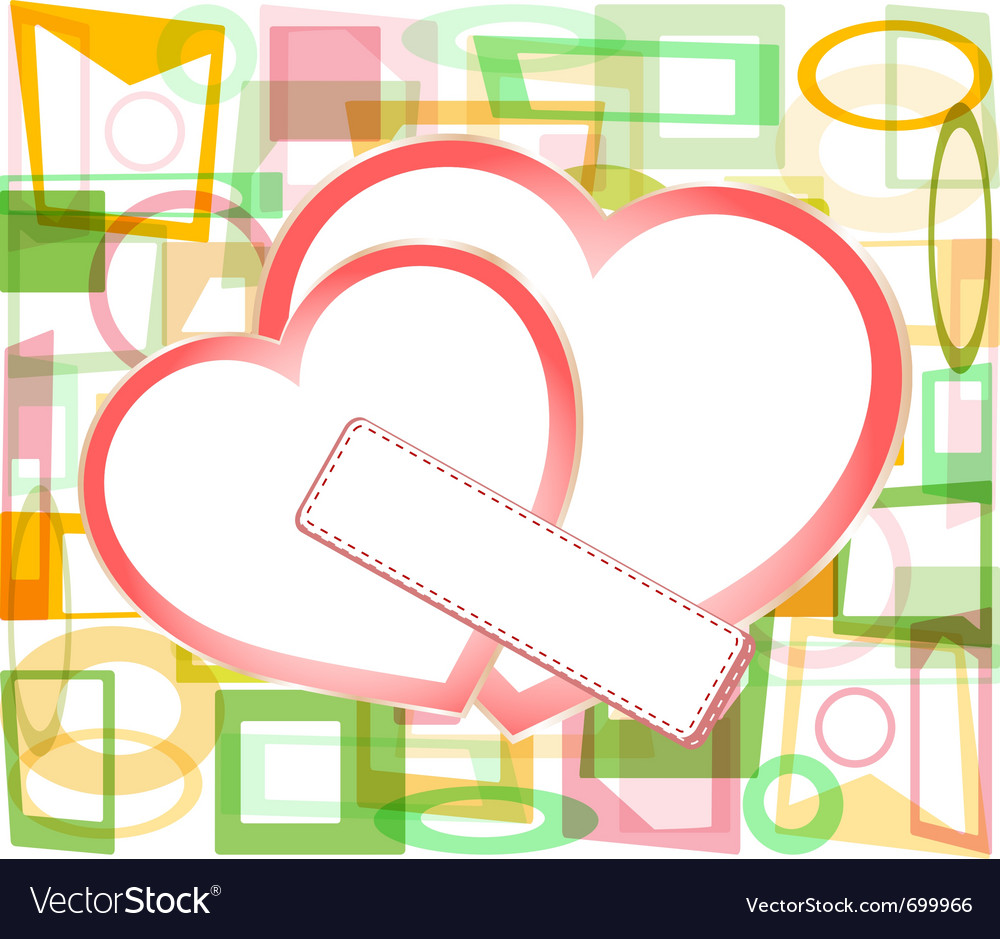 Valentines paper hearts vector image