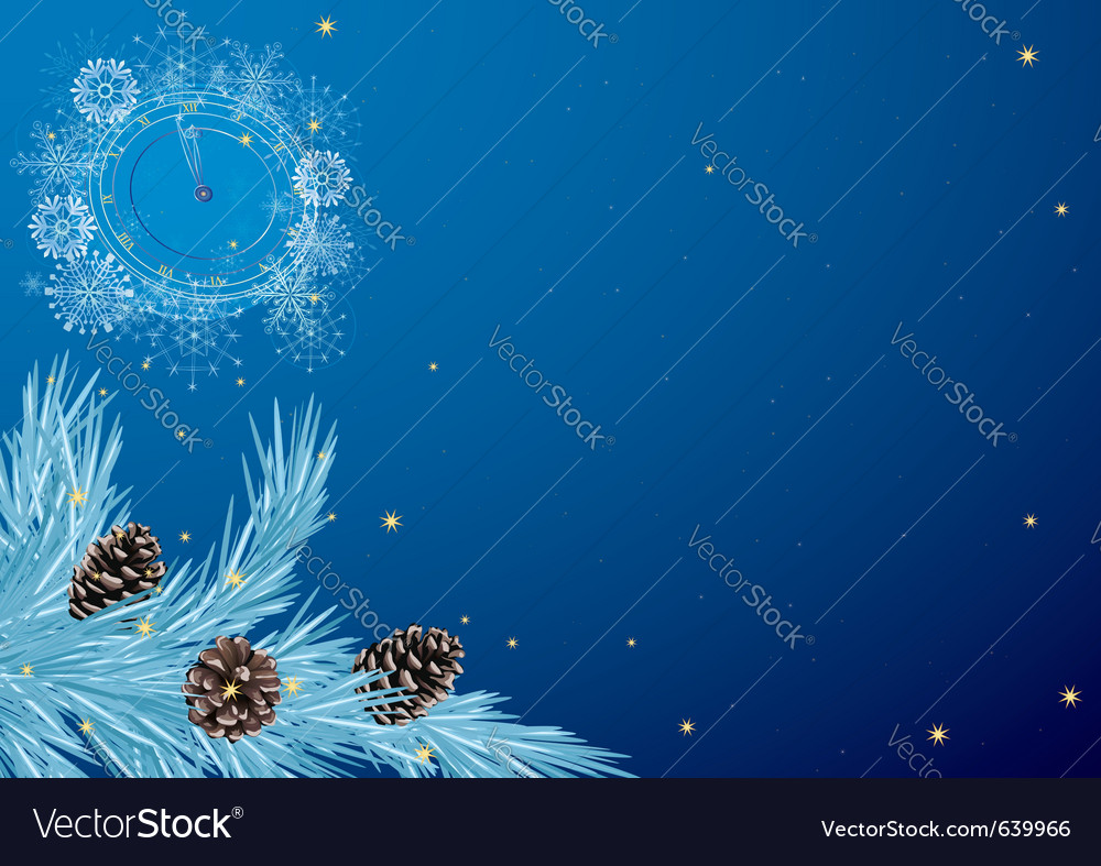 New year pattern with clock vector image