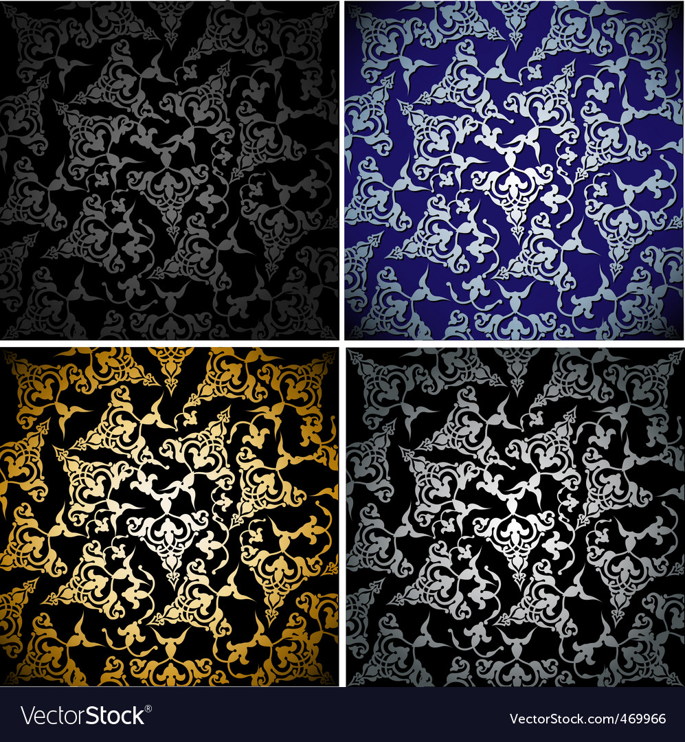 Seamless wallpaper pattern vector illustration vector image