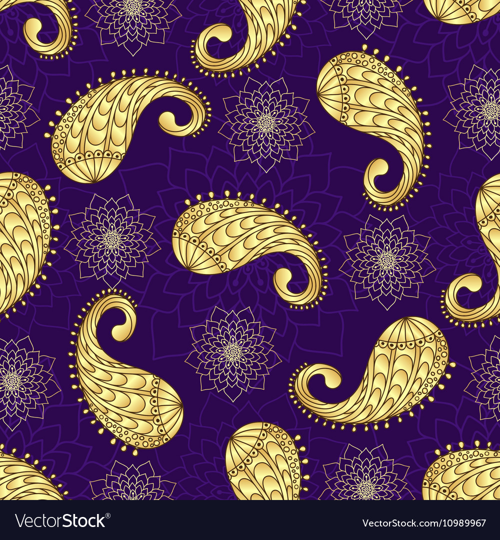 Seamless vintage violet pattern vector image