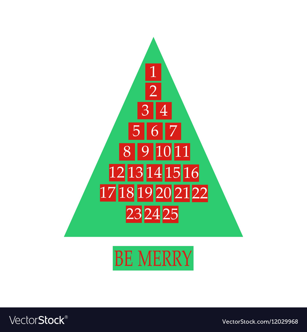 Christmas advent calendar vector image