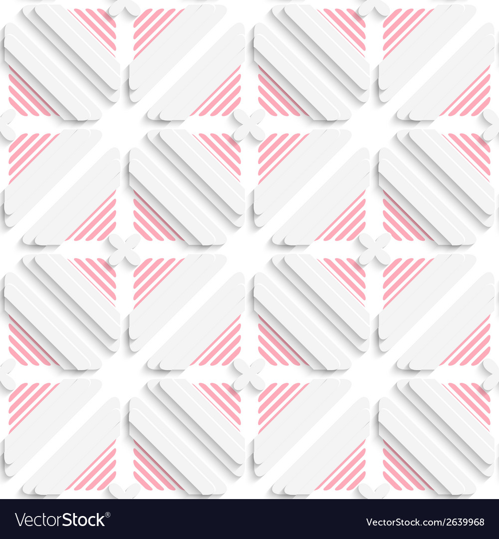 Diagonal layered frames and red lines pattern vector image