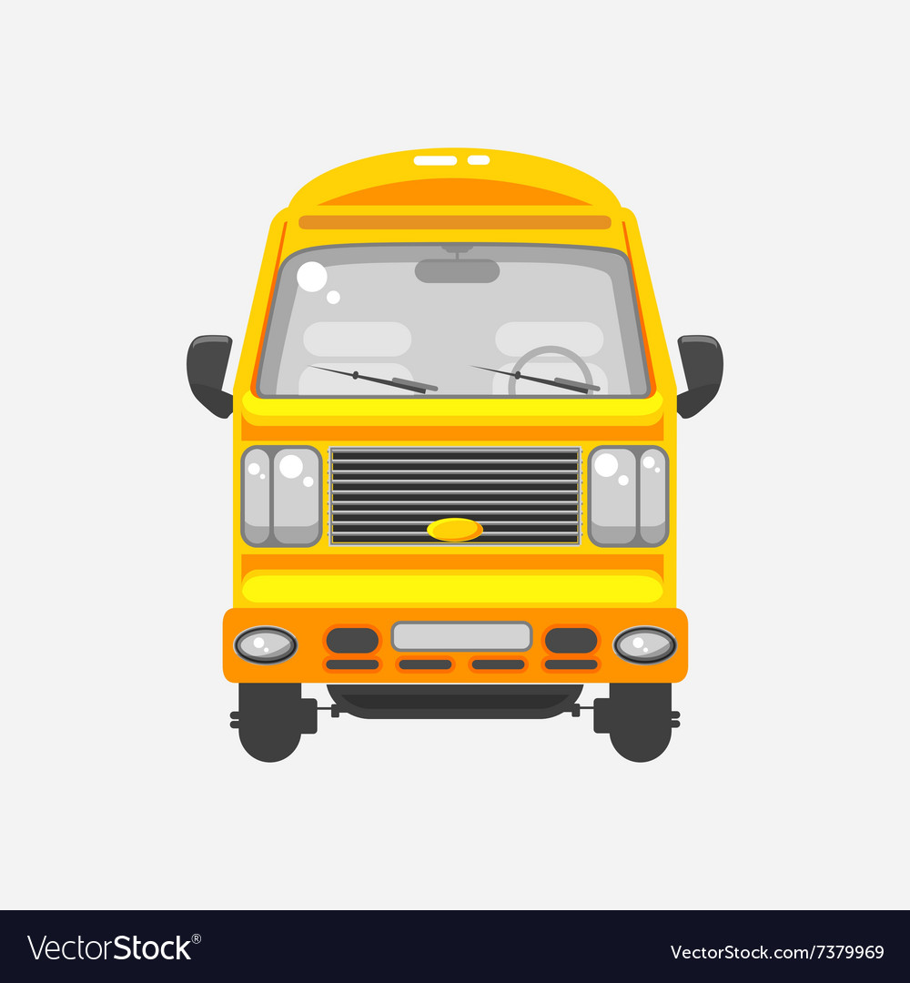 Delivery truck front view vector image