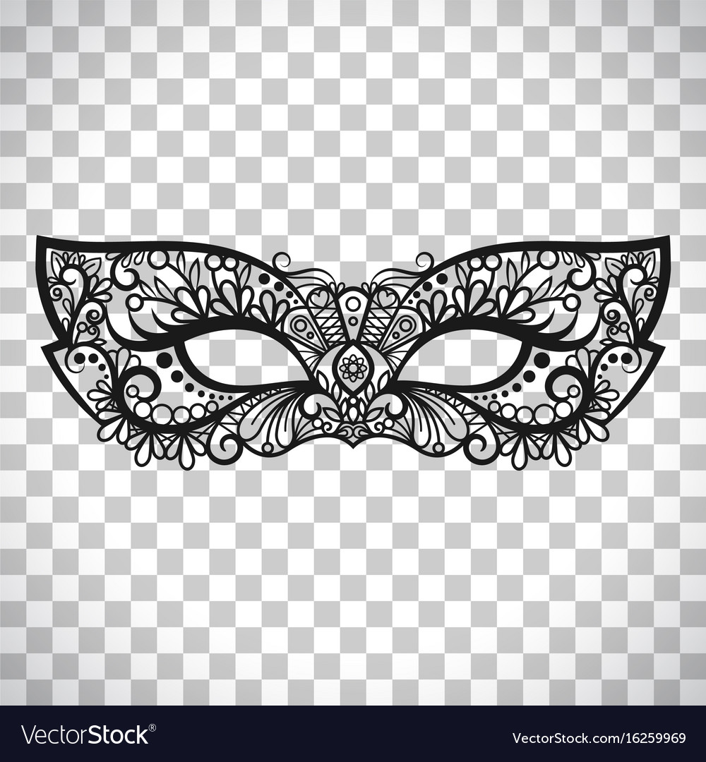 Mardi gras mask on transparent background Vector Image