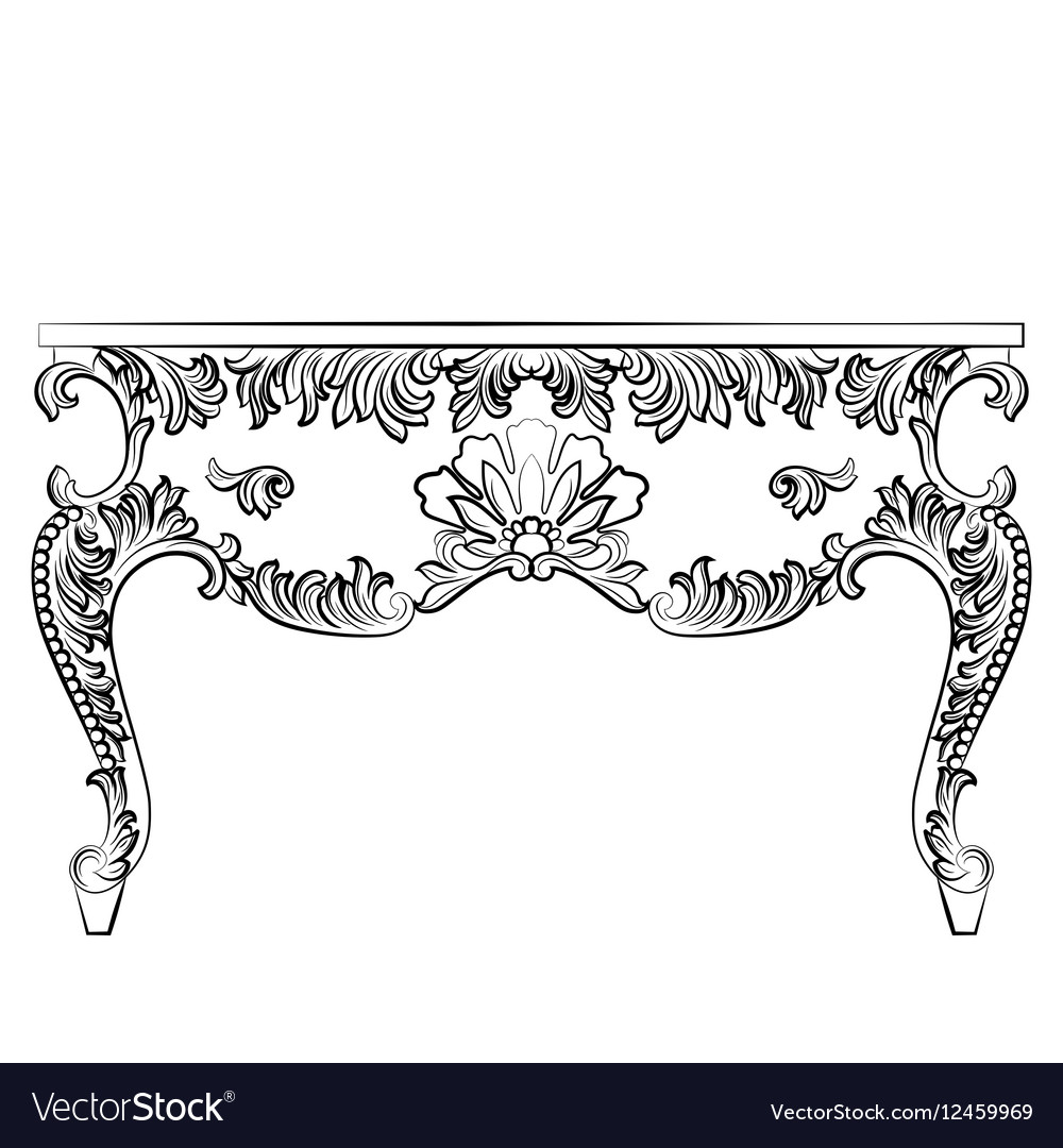 Rich Baroque style Table vector image