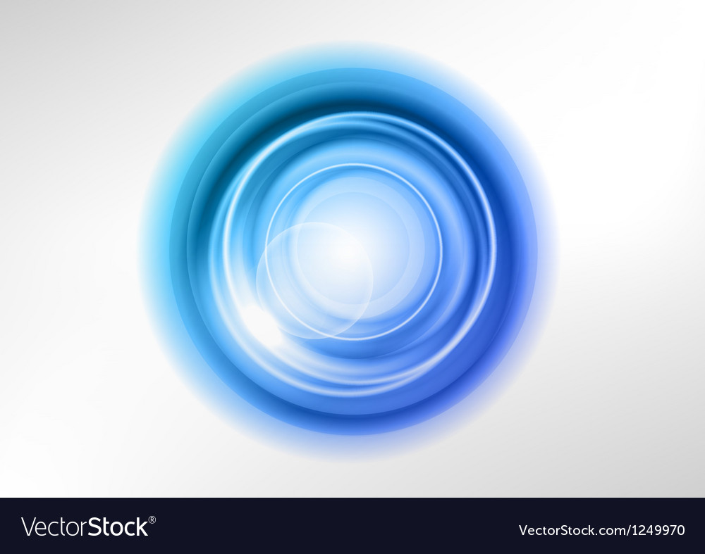 Background blue light center vector image