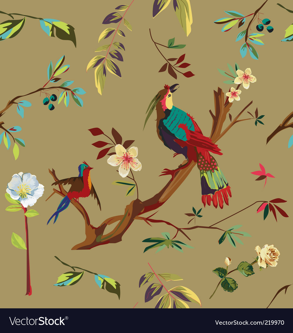 Japanese nature pattern vector image