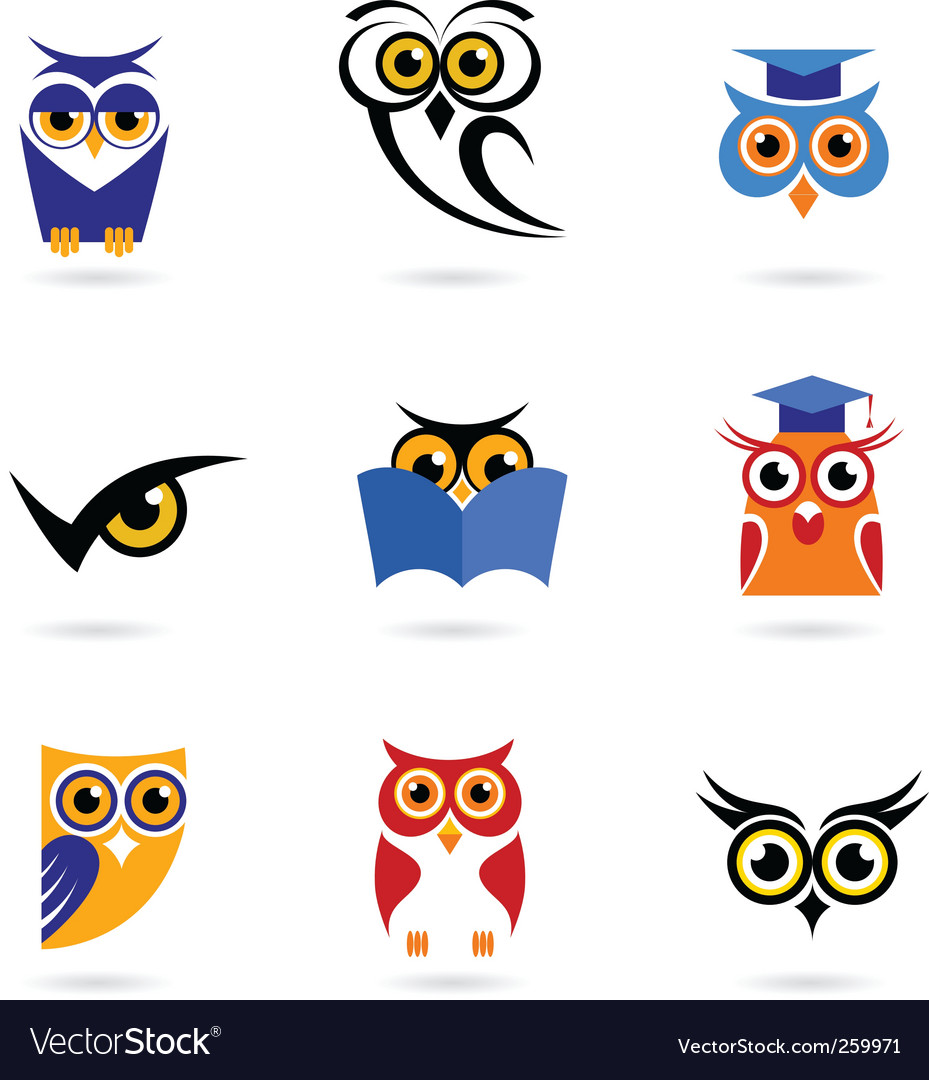 Wise owl vector image
