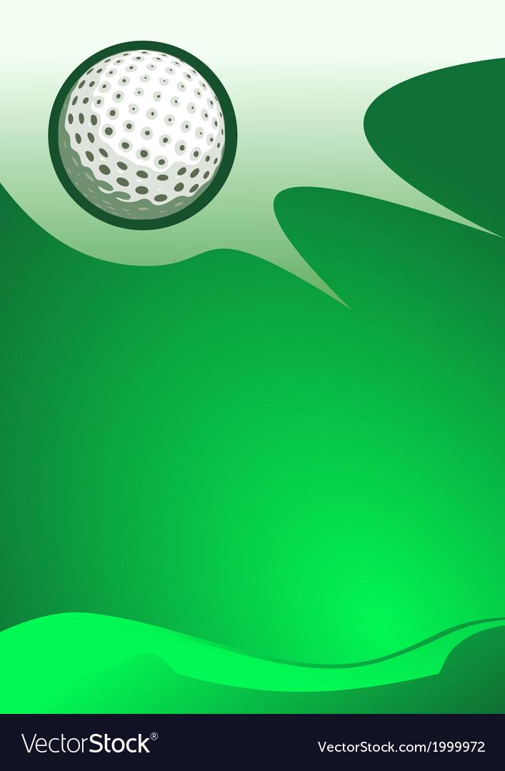 Golf sport background vector image