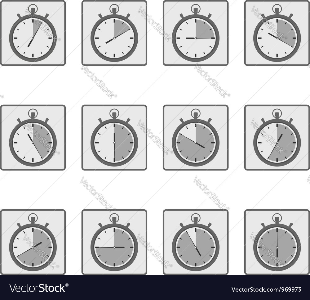 Timer Icons vector image