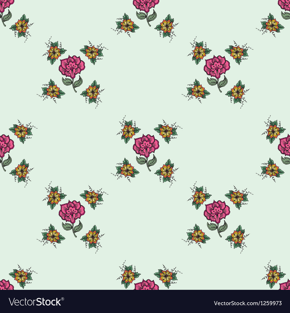Beautiful vintage seamless floral background vector image