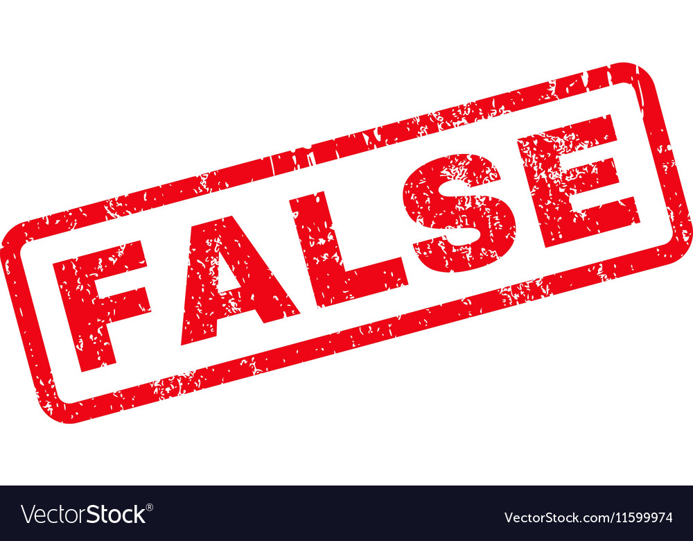 False Text Rubber Stamp vector image