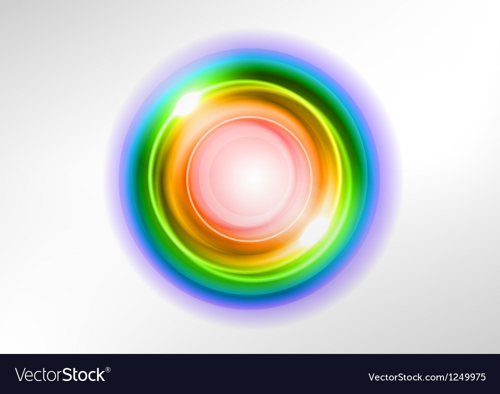 Background rainbow light center vector image