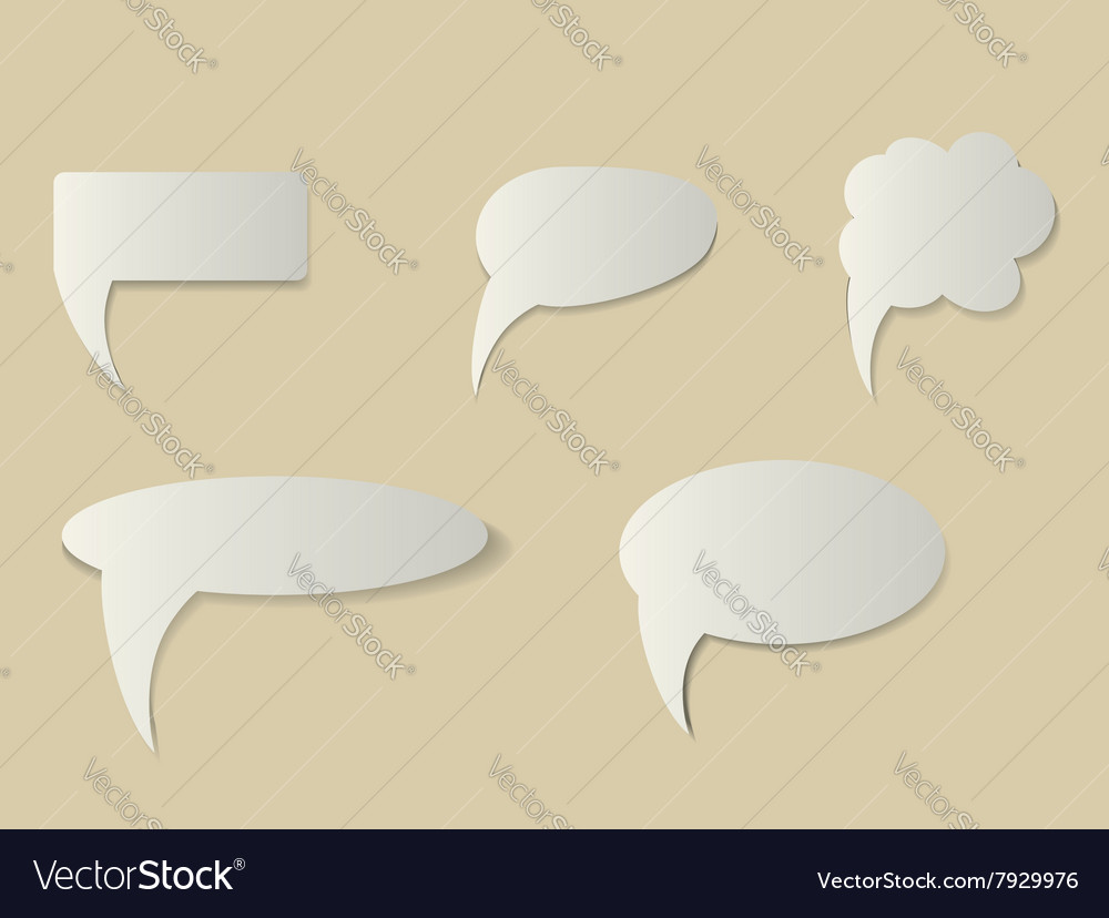 Five speach bubbles vector image