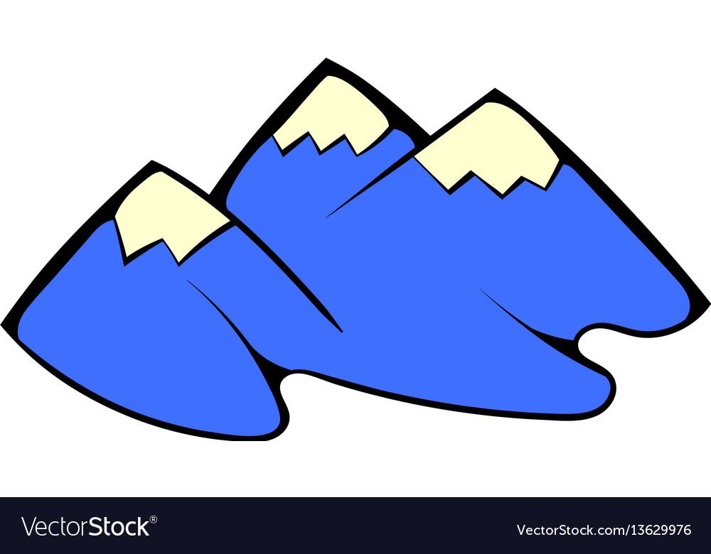 Mountain icon cartoon vector image