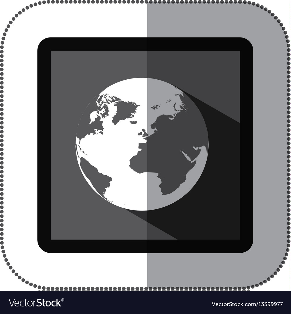 Contour earth planet icon vector image