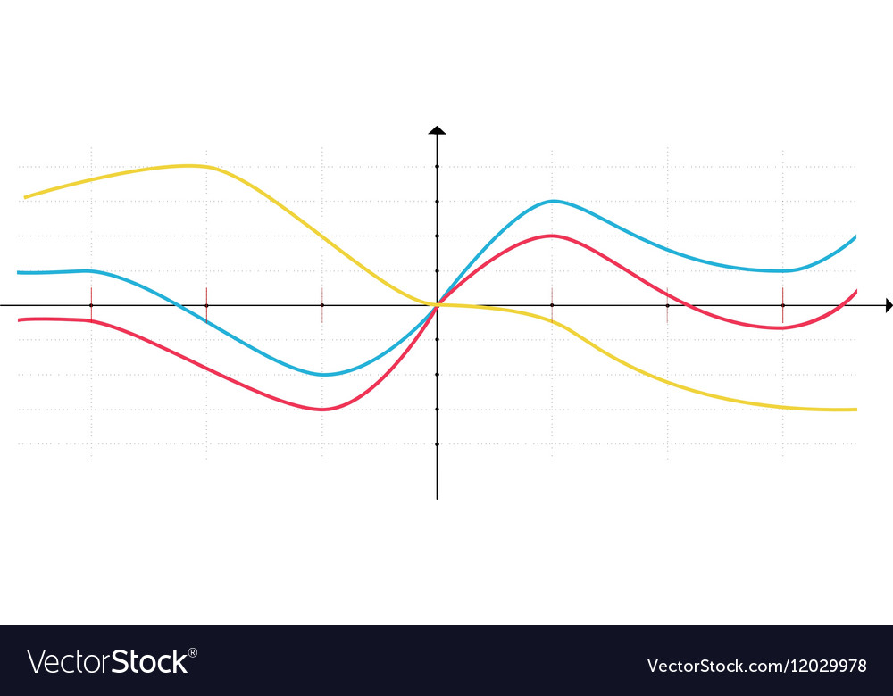 Business data market elements diagrams vector image