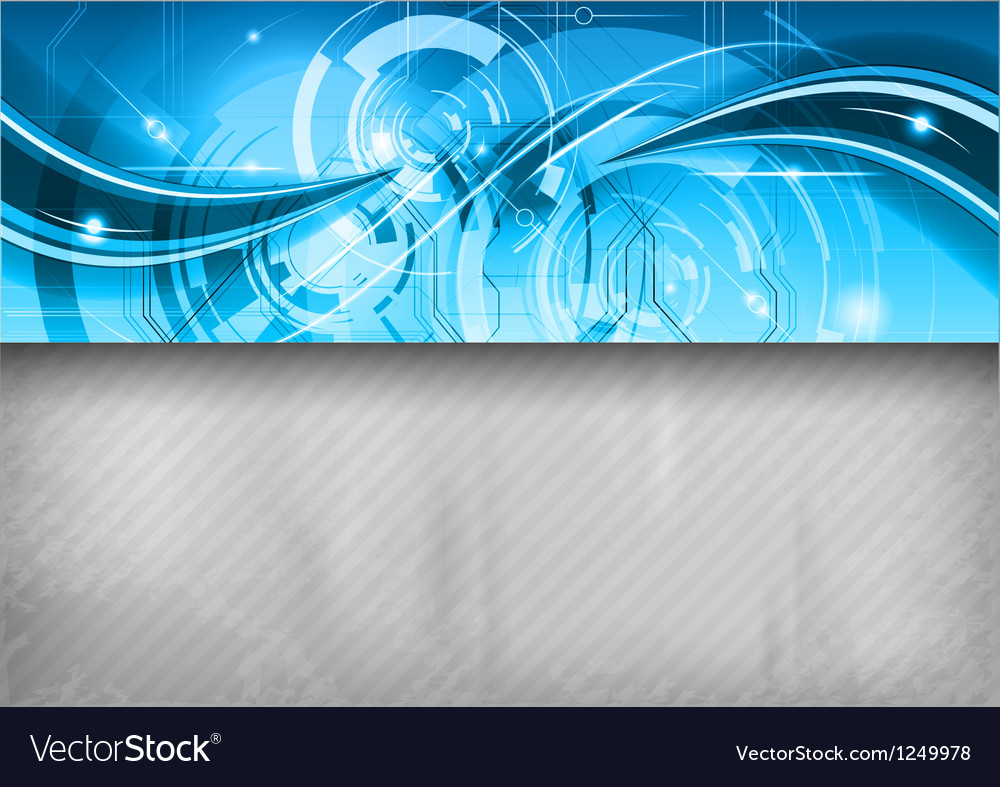 Tech background line top blue vector image