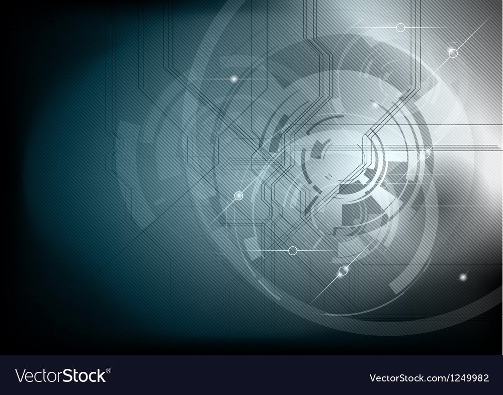Tech background neutral dark vector image
