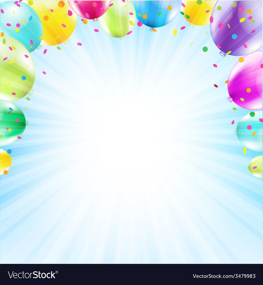 Birthday Card Design Template Balloon Royalty Free Vector Image – Birthday Card Design