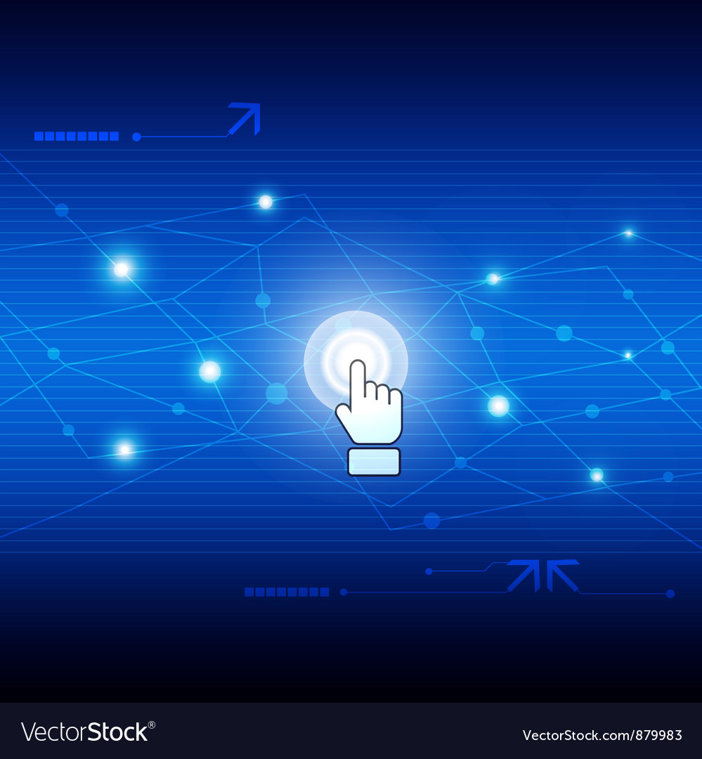 Digital network technology vector image