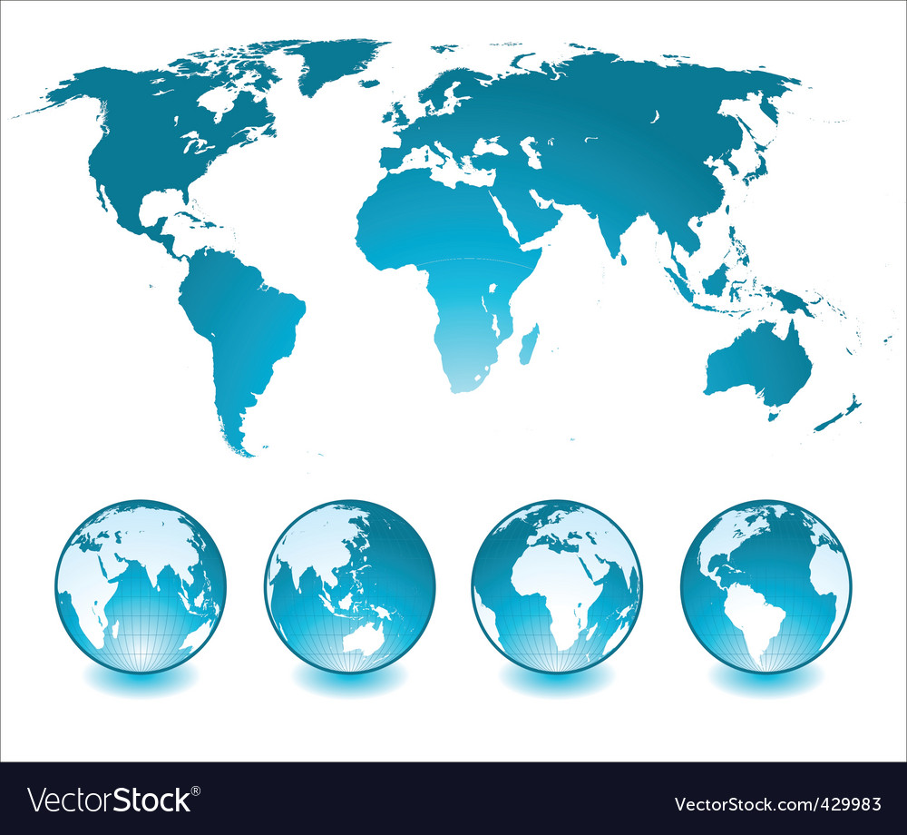 Globes and world map royalty free vector image globes and world map vector image sciox Images