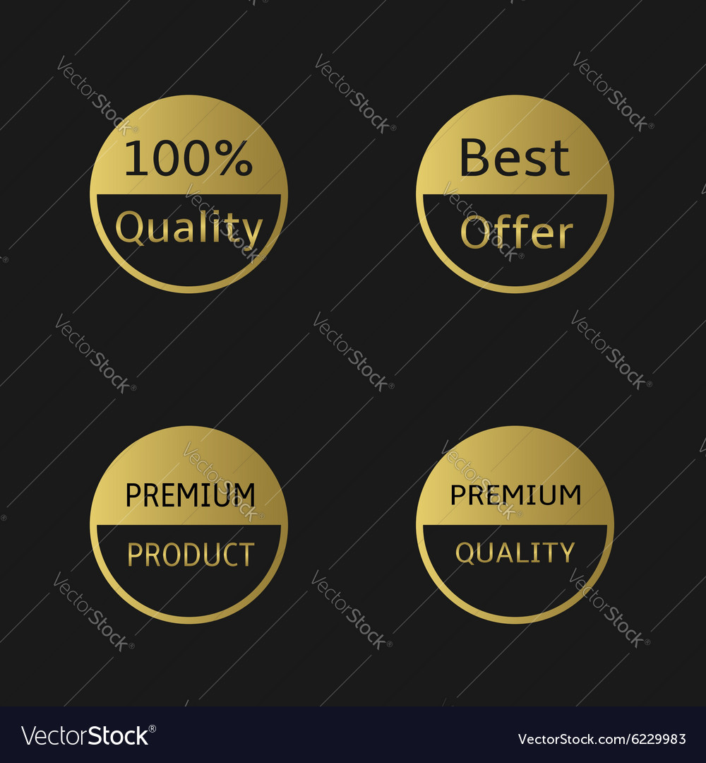 Golden labels vector image