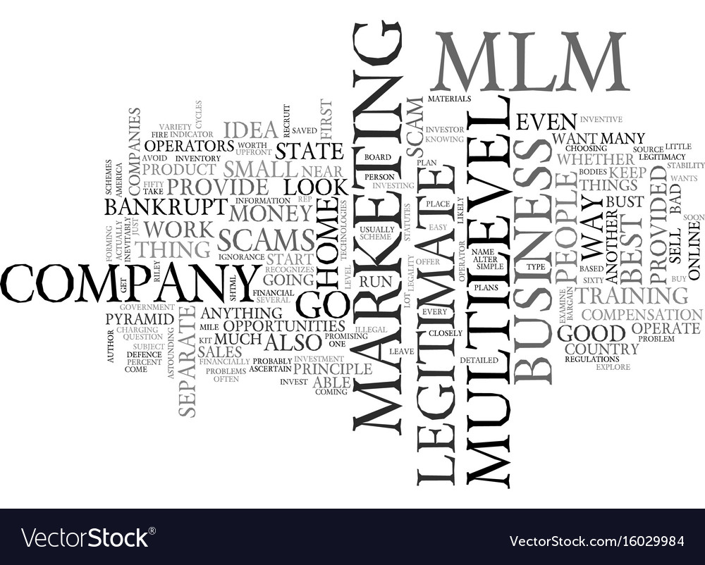 Is your mlm about to go bankrupt and leave you vector image