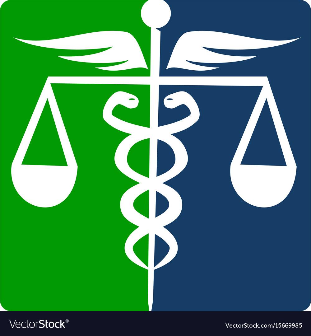 Caduceus health balance vector image