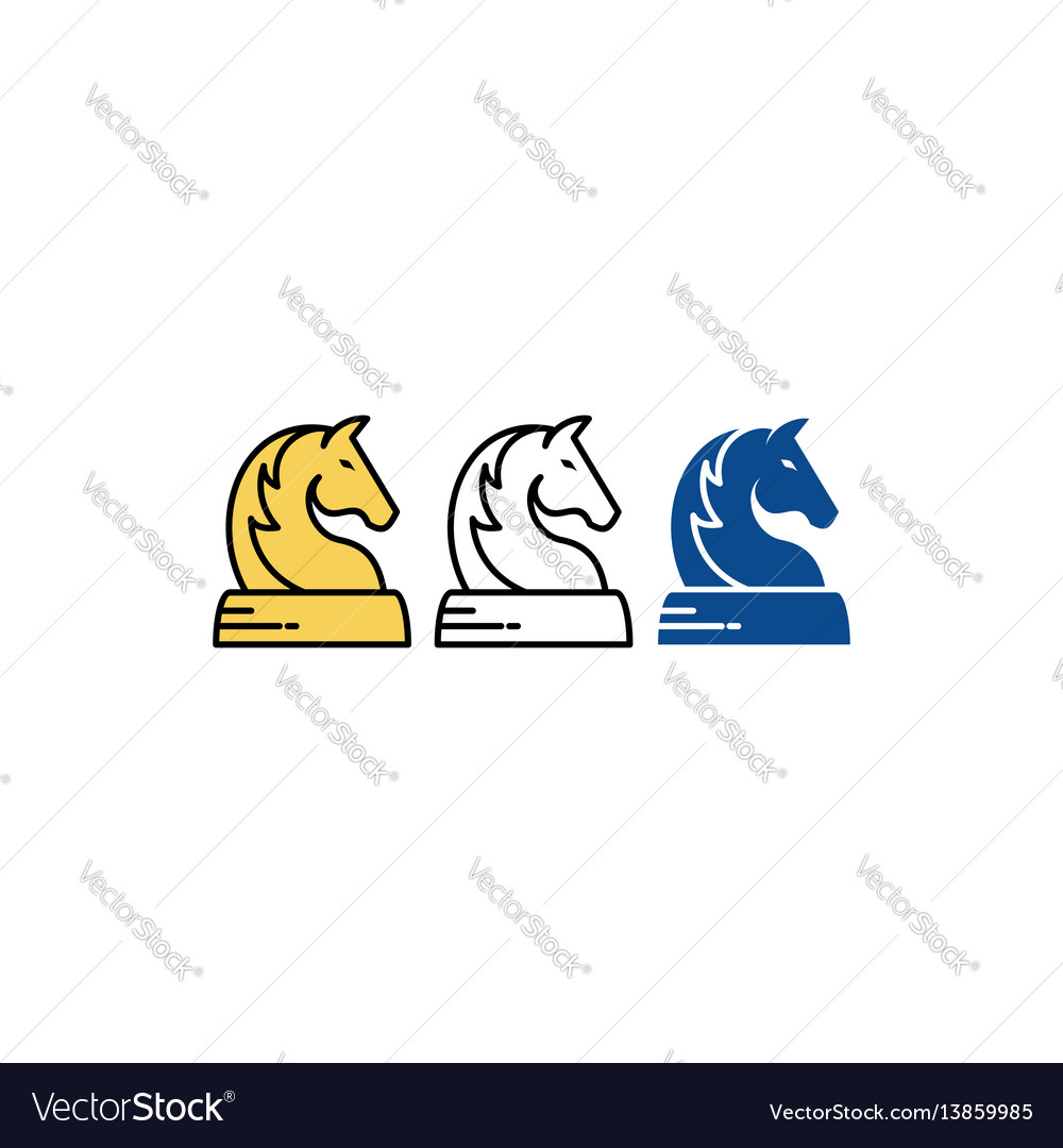 Horse chess vector image