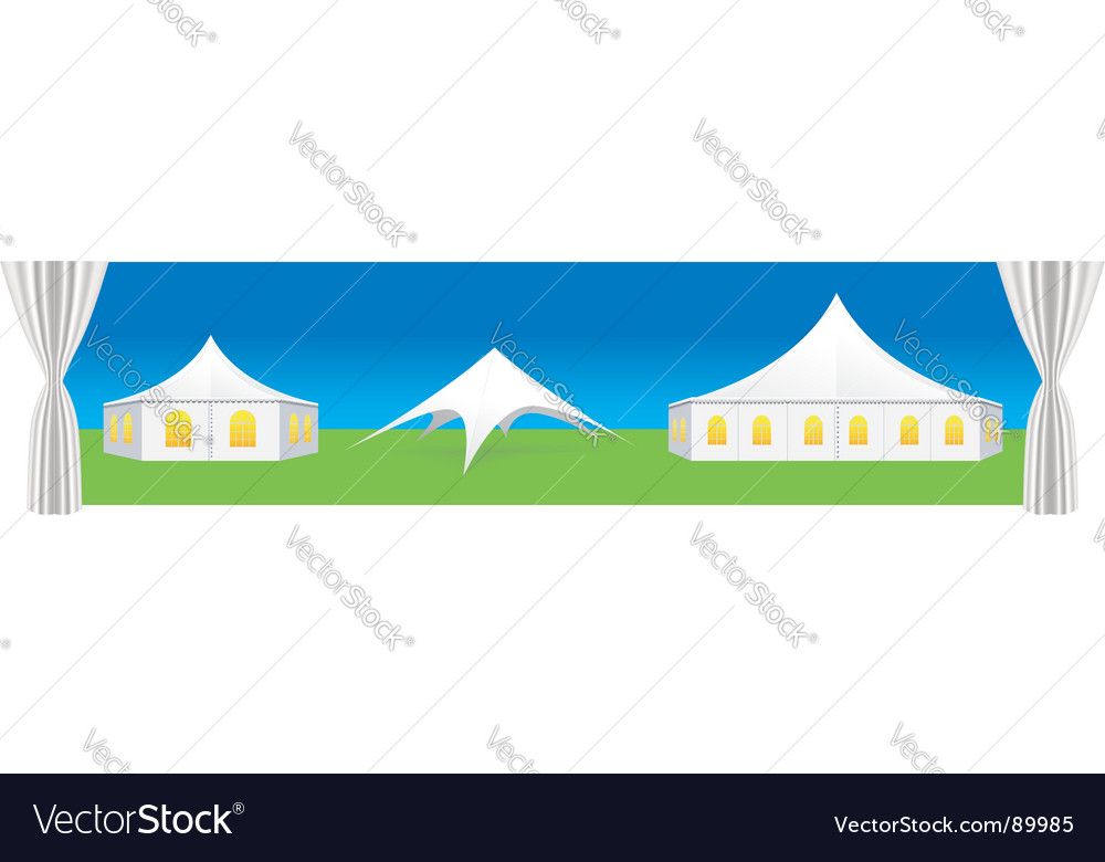 Tent illustration vector image