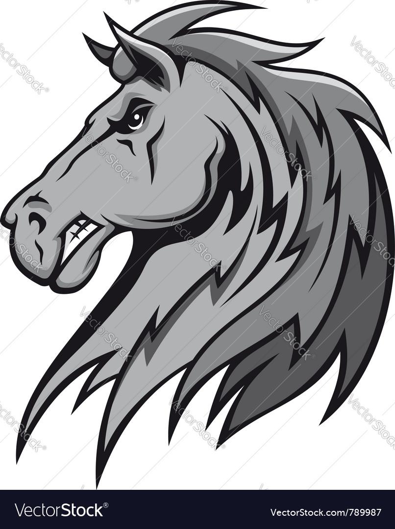 Wild stallion vector image