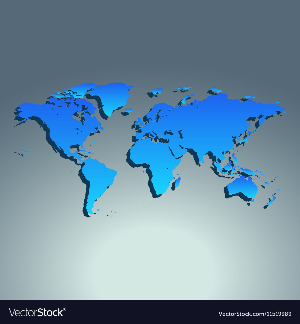 World map blue color flat design royalty free vector image world map blue color flat design vector image gumiabroncs