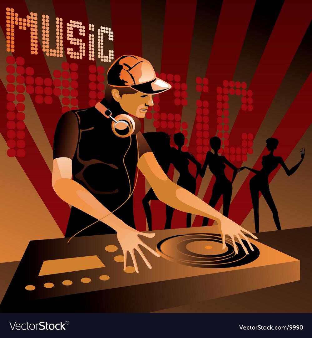 Disc jockey vector image