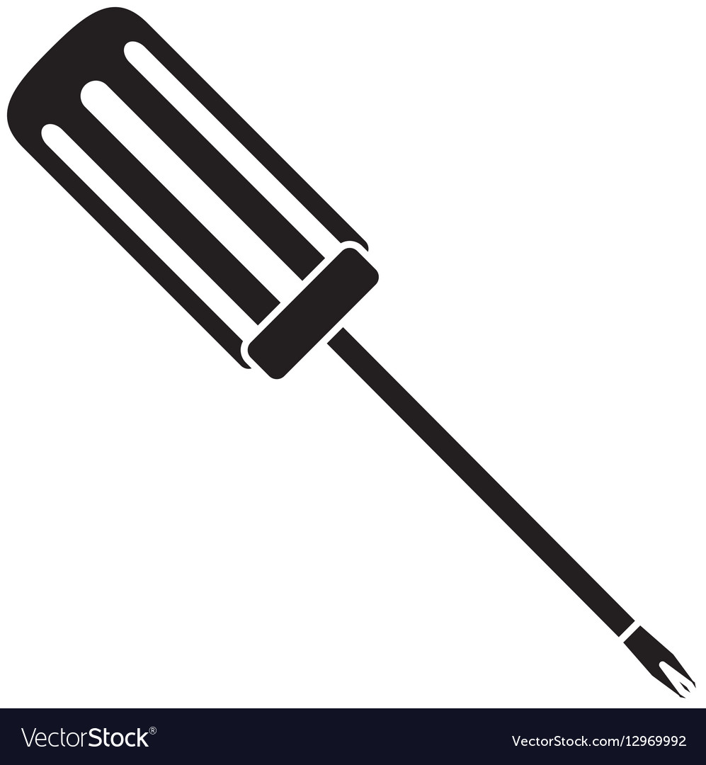 Technical service solutions screwdriver icon vector image